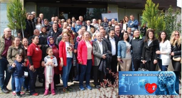 Kulüp Kalbim üyeleri 'Sağlıklı Kalpler' için yürüdü