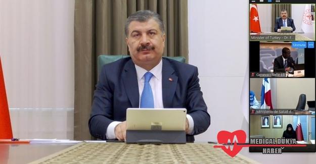 Sağlık Bakanı Koca, DSÖ'ye Türkiye'yi anlattı