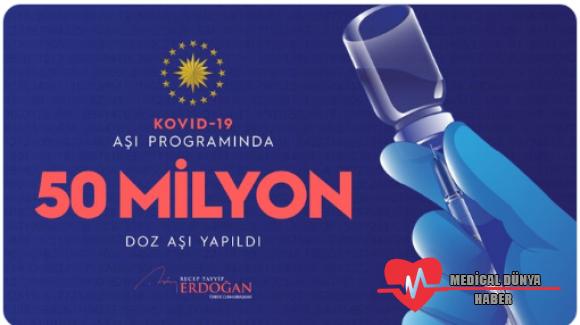 Erdoğan açıkladı; Türkiye'de koronavirüs aşısı yapılan sayı 50 milyonu aştı