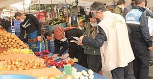 bPazarlarda satılan gıdalara Covid-19.../b